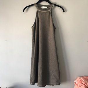 NWOT Honey Punch acid wash halter dress